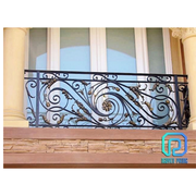 Elegant Hand-forged Wrought Iron Balcony Railings