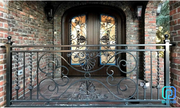 Classy Wrought Iron Exterior Railings For Stairs,  Decks,  Porches