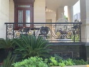 Hand-forged wrought iron balcony railings from Vietnam